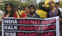 Protest in India against rape
